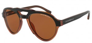 Okulary Emporio Armani 4128 Matte Black/Brown EA4128-574273