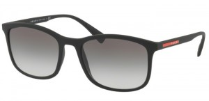 Okulary PRADA LIFESTILE BLACK RUBBER PS01TS-DG00A7