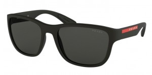 Okulary PRADA ACTIVE BLACK RUBBER PS01US-DG05S0