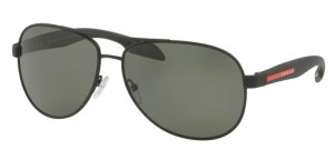 Okulary PRADA  BLACK POLAR GREEN PS53PS-DG05X1