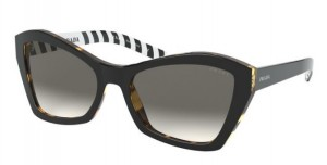 Okulary PRADA  BLACK/MEDIUM HAVANA PR07XS-NAI130
