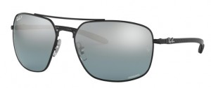 Okulary RAY BAN 8322CH Black / Blue Mirror Grey Gradient Polarized ORB8322CH-002/5L