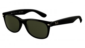 Okulary RAY BAN 2132 NEW WAYFARER Black / Green Polarized ORB2132-901/58 (1)