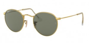 Okulary RAY BAN 3447 ROUND METAL Gold / Polar Green ORB3447-001/58