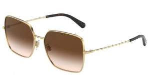 Okulary DOLCE & GABBANA Gold / Brown Gradient DG2242-02/13