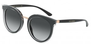 Okulary DOLCE GABBANA 4371 Top Crystal On Black DG4371-53838G
