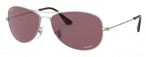 Okulary RAY BAN Matte Sliver / Purple Polarized RB3562-019/BC