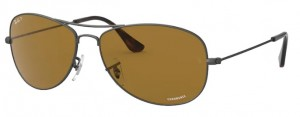 Okulary RAY BAN Matte Gunmetal / Brown Polarized RB3562-029/BB
