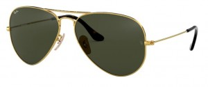 3025 AVIATOR / Gold / Dark Green / ORB3025-181