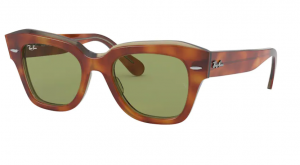 Okulary RAY BAN STATE STREET  TOP TORTOISE/TRANSPARENT BEIGE RB2186-12934E