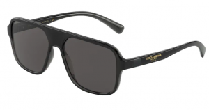 Okulary DOLCE GABBANA TRANSPARENT GREY/BLACK DG6134-325787