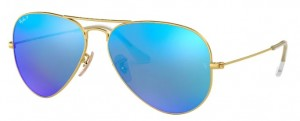 3025 AVIATOR LARGE / Matte Gold / Blue Mirror Polarized / ORB3025-112/4L