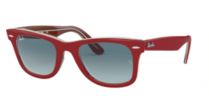 Okulary RAY BAN WAYFARER RED ON TRANSPARENT GREY ORB2140-12963M