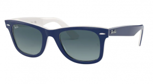 Okulary RAY BAN WAYFARER BLUE ON WHITE ORB2140-12993M