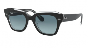 Okulary RAY BAN STATE STREET BLACK ON TRANSPARENT / Blue Gradient  RB2186-12943M