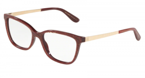 Okulary DOLCE&GABBANA GLITTER GOLD STRIPED BORDEAUX DG3317-3219