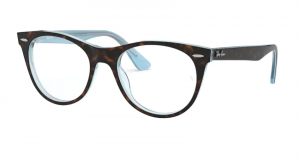Oprawki RAY BAN 2185V TOP HAVANA ON LIGHT BLUE ORX2185V-5883