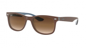 Okulary RAY BAN JUNIOR 9052S TOP MATTE BROWN ON BLUE/ BROWN GRADIENT RJ9052S-703513