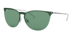 Okulary RAY BAN 3652 RUBBER SILVER/GREEN ORB3652-911682
