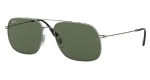 Okulary RAY BAN RUBBER SILVER/GREEN ORB3595-911671