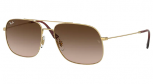 Okulary RAY BAN RUBBER GOLD/BROWN GRADIENT ORB3595-901313