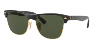 RAY BAN CLUBMASTER DEMI SHINY BLACK ARISTA/ GREEN ORB4175-877