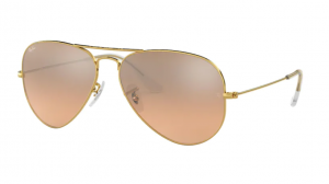 3025 AVIATOR LARGE GOLD/  BROWN PINK SILVER MIRROR ORB3025-001/3E