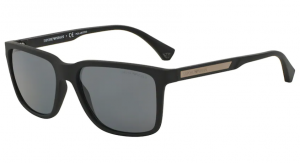 Okulary Emporio Armani 4047 Black Rubber/ Polar Grey EA4047-506381