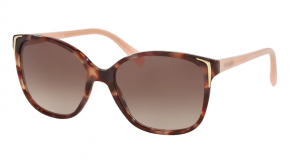 Okulary PRADA CONCEPTUAL SPOTTED BROWN PINK/ BROWN GRADIENT PR01OS- UE00A6
