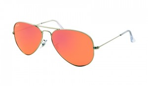 3025 AVIATOR LARGE / Matte Silver / Brown Mirror Pink / ORB3025-019/Z2