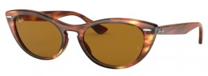 Okulary RAY BAN 4314N Stripped Brown / Brown ORB4314N-954/33