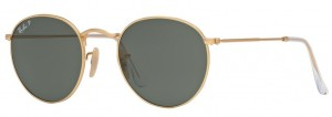 Okulary RAY BAN 3447 ROUND METAL Matte Gold / Polarized Green ORB3447-112/58