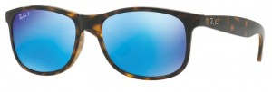 RAY BAN ANDY Shiny Havana / Mirror Blue Polar ORB4202-710/9R