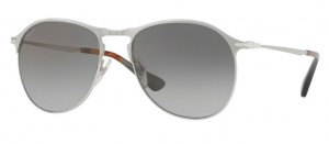 Okulary PERSOL Matte Silver / Gradient Green Polarized PO7649S-1068/M3