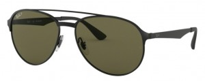 Okulary RAY BAN 3606 Shiny Black on Top Matte Black / Dark Green Polarized ORB3606-186/9A