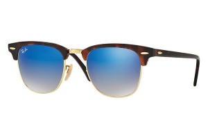 RAY BAN CLUBMASTER Shiny Red Havana / Blue Flash Grad. ORB3016-990/7Q