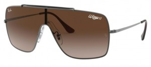 Okulary RAY BAN Wings II Gunmetal / Brown Gradient ORB3697-004/13