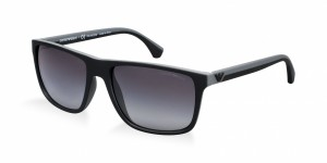 Okulary Emporio Armani 4033 Black Grey Rubber / Polarized Grey Gradient 4033-5229T3