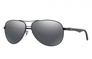 Okulary RAY BAN 8313 Shiny Black / Grey Mirror Black Polarized ORB8313-002/K7
