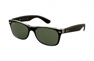 Okulary RAY BAN 2132 NEW WAYFARER Top Black on Transparent / Green ORB2132-6052