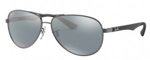 Okulary RAY BAN 8313 Shiny Gunmetal / Blue Mirror Silver Polarized ORB8313-004/K6