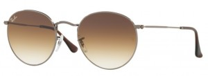 Okulary RAY BAN ROUND METAL Gunmetal / Brown Gradient ORB3447N-004/51