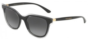 Okulary DOLCE & GABBANA 4362 Top Crystal on Black / Grey Gradient DG4362-53838G