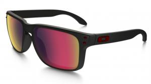 Okulary OAKLEY HOLBROOK Matte Black / Positive Red Iridium oo9102-36
