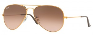 3025 AVIATOR LARGE METAL / Shiny Light Bronze / Pink Gradient Brown ORB3025-9001A5