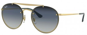 Okulary RAY BAN Gloss Gold / Clear Gradient Blue ORB3614N-91400S