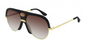 Okulary Gucci Black / Brown Gradient GG0477S-001
