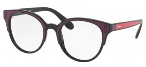 Okulary PRADA Black Bordeaux Fuxia PR08UV-SSA1O1