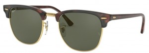 RAY BAN CLUBMASTER Red Havana/Green Polar ORB3016-990/58