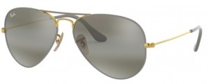 3025 AVIATOR  / Gold on Top Matte Grey / Grey Blue Mirro ORB3025-9154AH